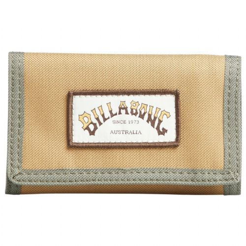 BILLABONG MENS WALLET.ATOM TRIFOLD BROWN HOOK LOOP CREDIT CARD MONEY PURSE 9W 1